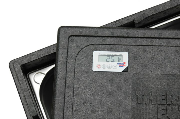 Låg med digitalt termometer. Gastronorm 1/1.-0