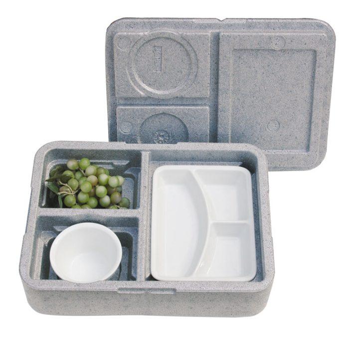 Dinner kasse til portionsanretning. 3 rum - 1 portion + 2 tilbehør.-402