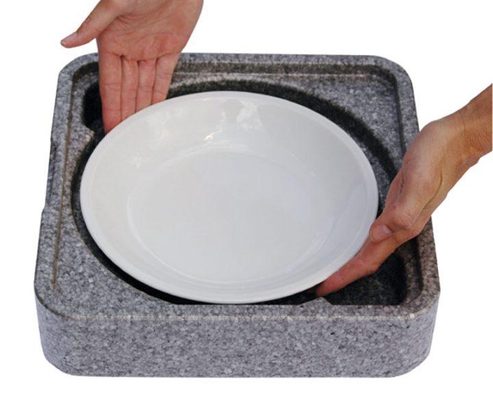 Dinner kasse til portionsanretning. 1 rum - 1 portion (rund tallerken). -406