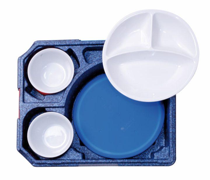 Dinner kasse til portionsanretning. 6 rum - 2 portioner + 4 tilbehør.-419