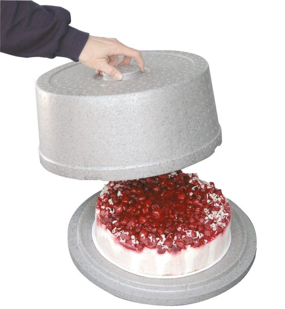 Rund kasse til kage. Ø 34 cm.-0