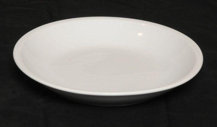 Porcelænstallerken med 1 rum (rund).-0