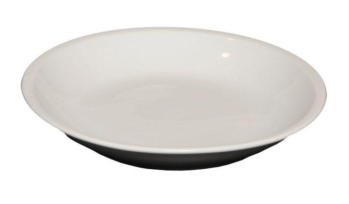 Porcelænstallerken med 1 rum (rund).-447
