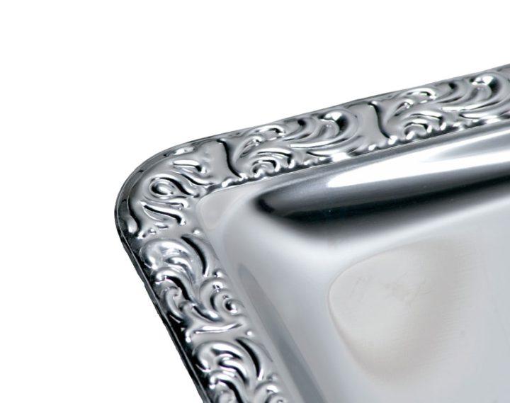 Fad med Decor kant - rustfrit stål. Gastronorm 1/1.-0