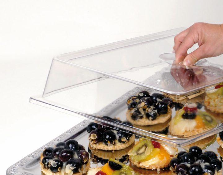 Transparent låg til afdækning af fade. Gastronorm 1/1.-451