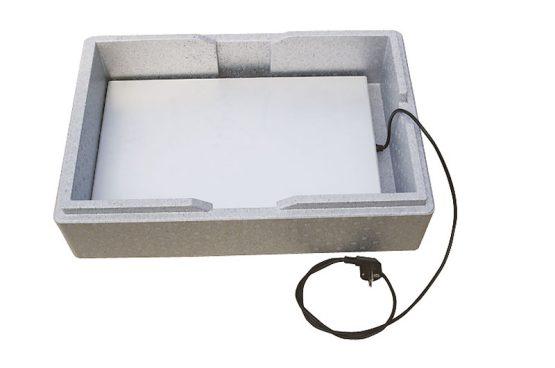 Varmeplade til kasser og indstik/frontloadere. 60/40. -533
